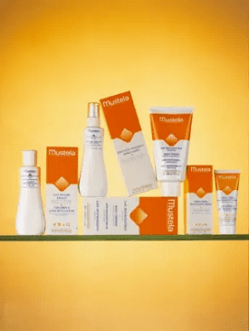 1960- Mustela's first sunscreen product range to protect babies' delicate skin